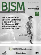 British Journal of Sports Medicine: 55 (21)